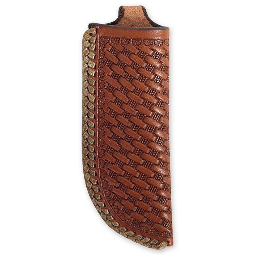 Martin Saddlery Vertical Knife Scabbard Mini Basket Weave