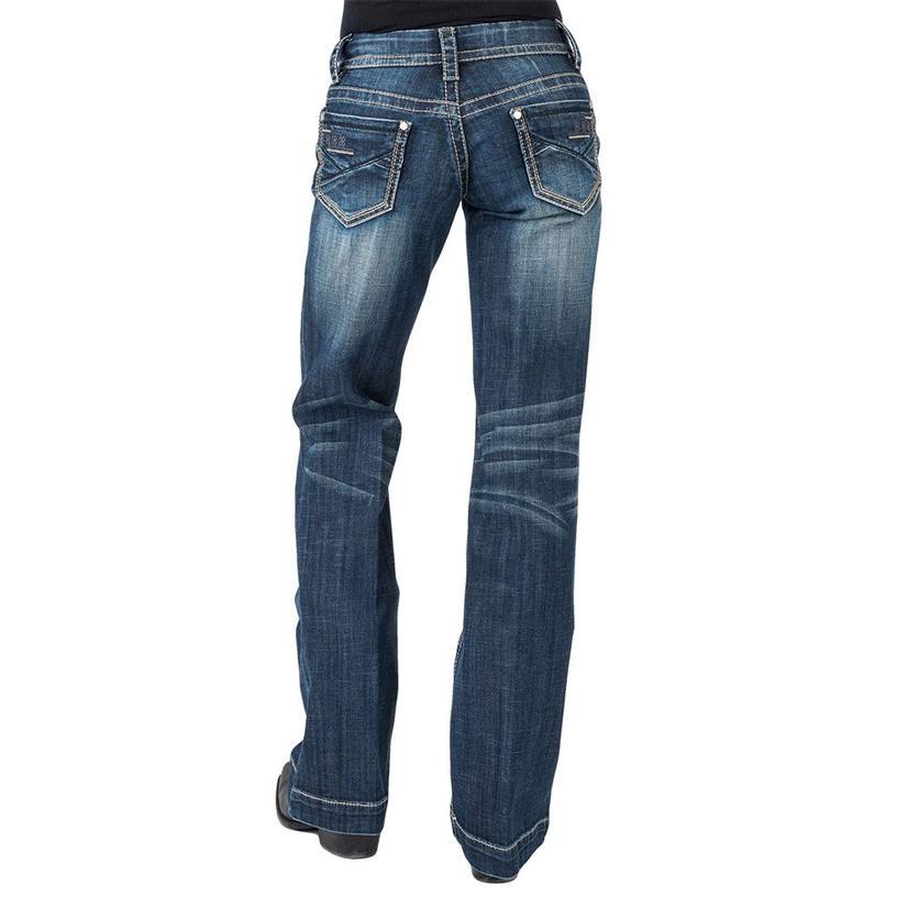 Stetson Womens Basic Back Pocket Medium Wash Trouser
