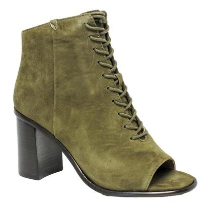 Frye Womens Amy Peep Lace Khaki Green Open Toe Boot
