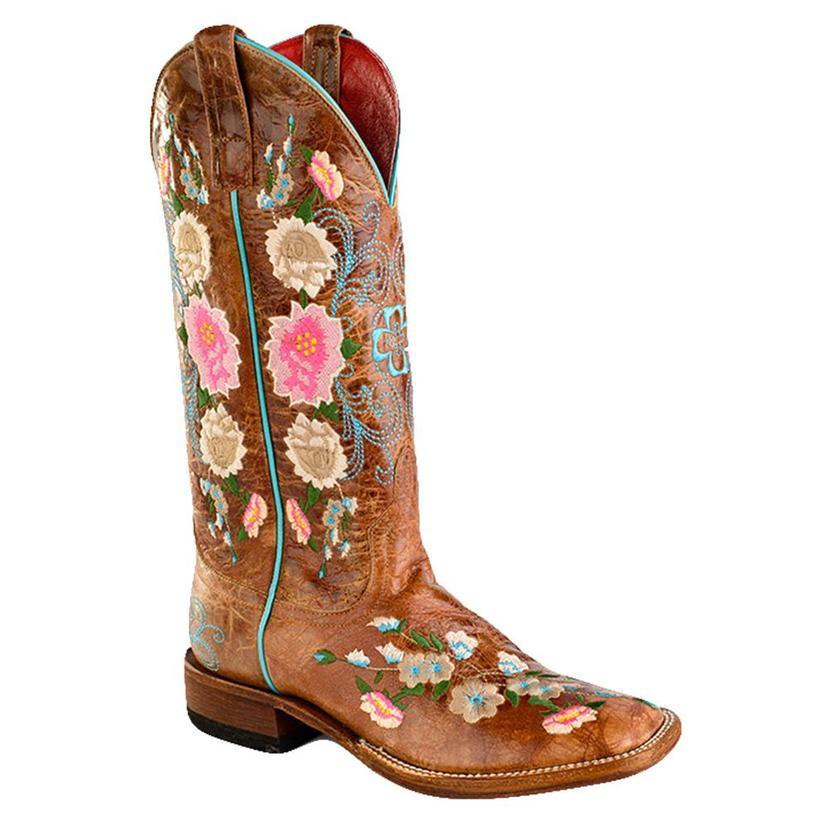 Macie Bean Womens I Never Promised You A Rose Garden Square Toe Boot