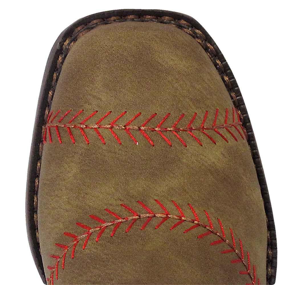 bbb8c3a4113 Boys Baseball Square Toe Cowboy Boots