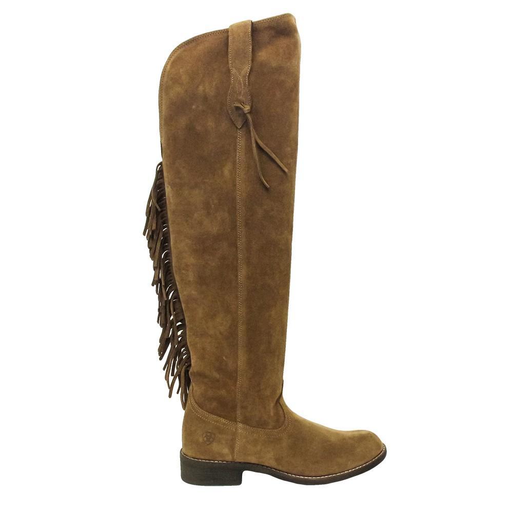 243b1cbeb08 Ariat Farrah Fringe Dirty Tan Suede Tall Boots