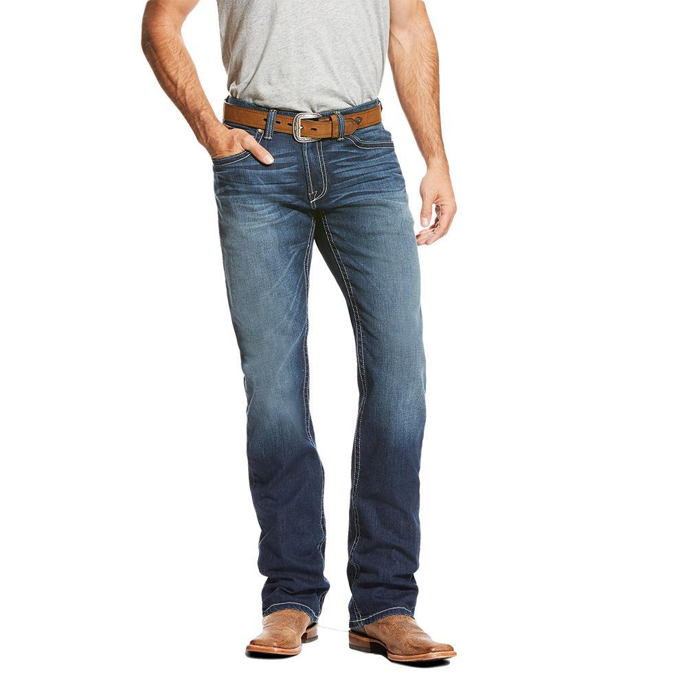 c872e39f4f14 Ariat Mens M4 Tek Stretch Brackish Boot Cut Jeans