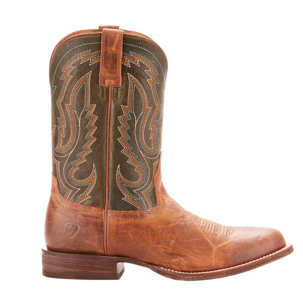 5cb3e10327f Ariat Circuit Tobacco Toffee Rifle Green Mens Boot