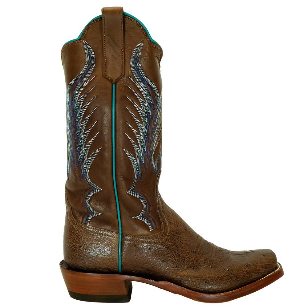 Rios Of Mercedes Cafe Americaon Smooth Ostrich Chestnut Remuda Womens Boots