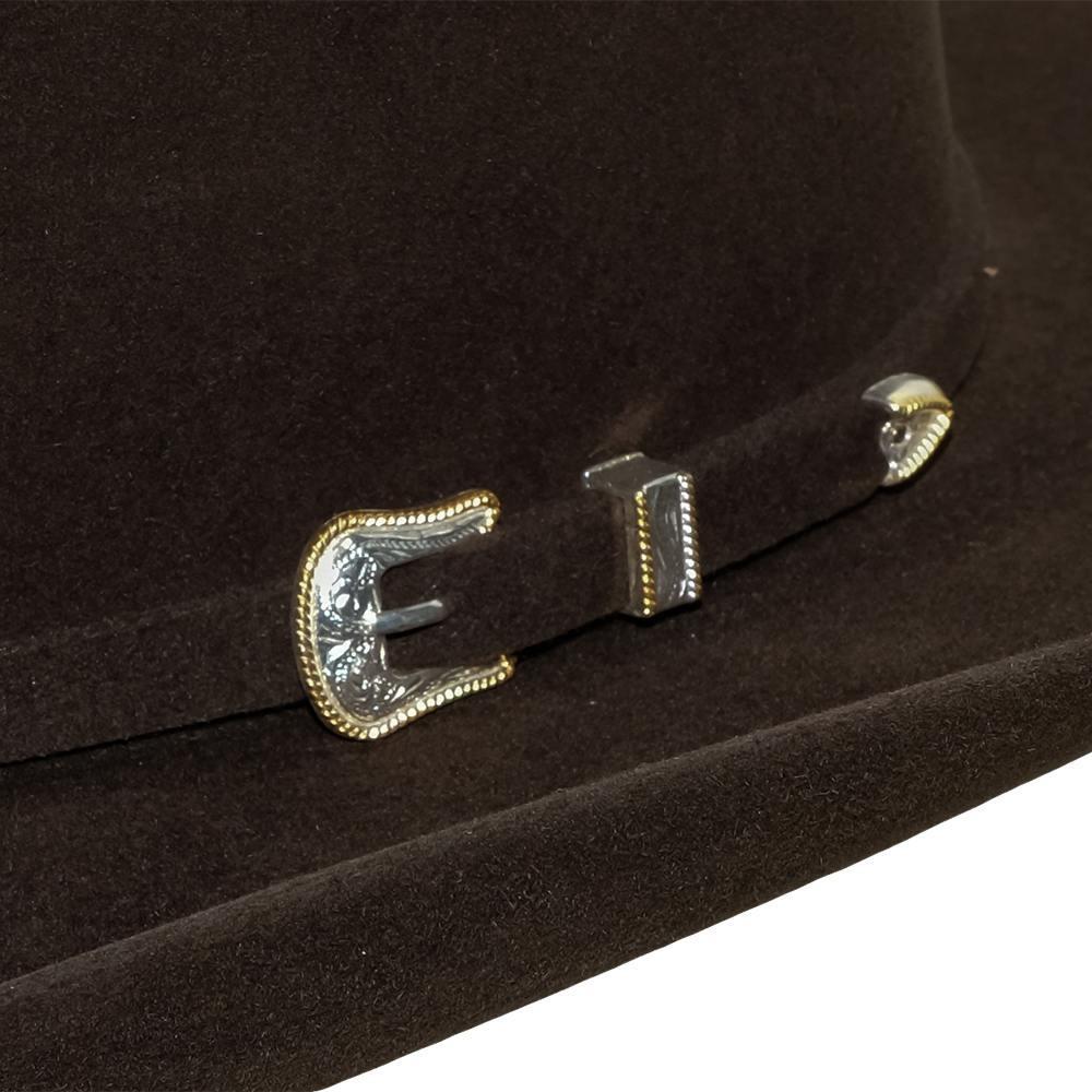911ac5af83e American Hat 10X Chocolate Open Crown Felt Hat - 4.25 Brim