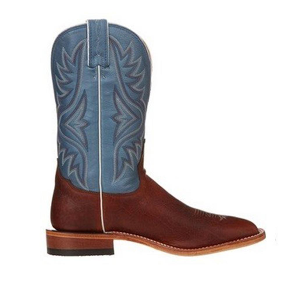 6eae5eb7e80 Tony Lama Mens Americana Pecan Bison Square Toe Boots