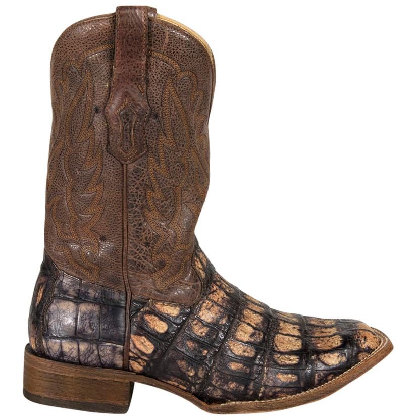 corral mens crackle caiman square toe boots