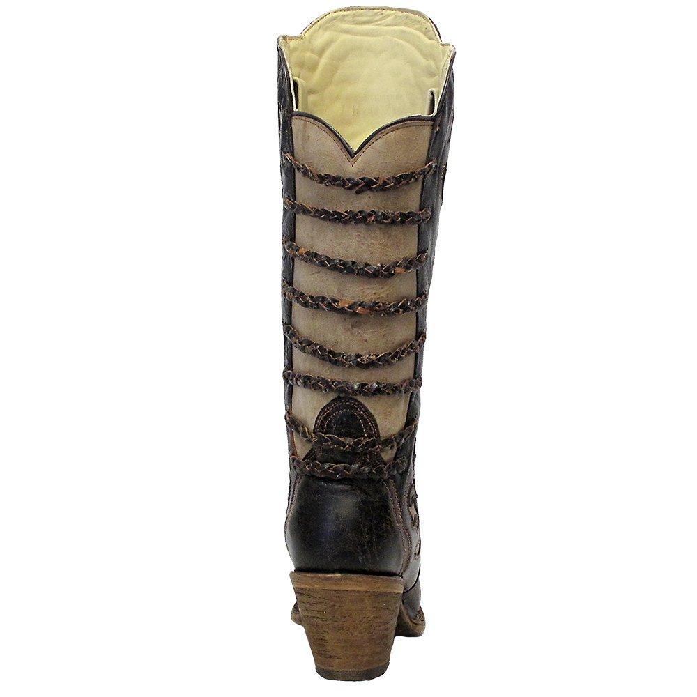 58a3670bfbc Corral Womens Black Bone Snip Toe Fashion Boots