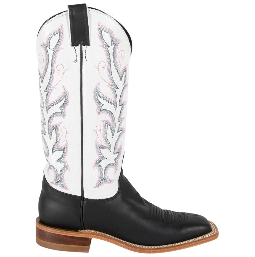 00c8408a50c6 Justin Women s Bent Rail Black   White Burnished Calf Cowboy Boots