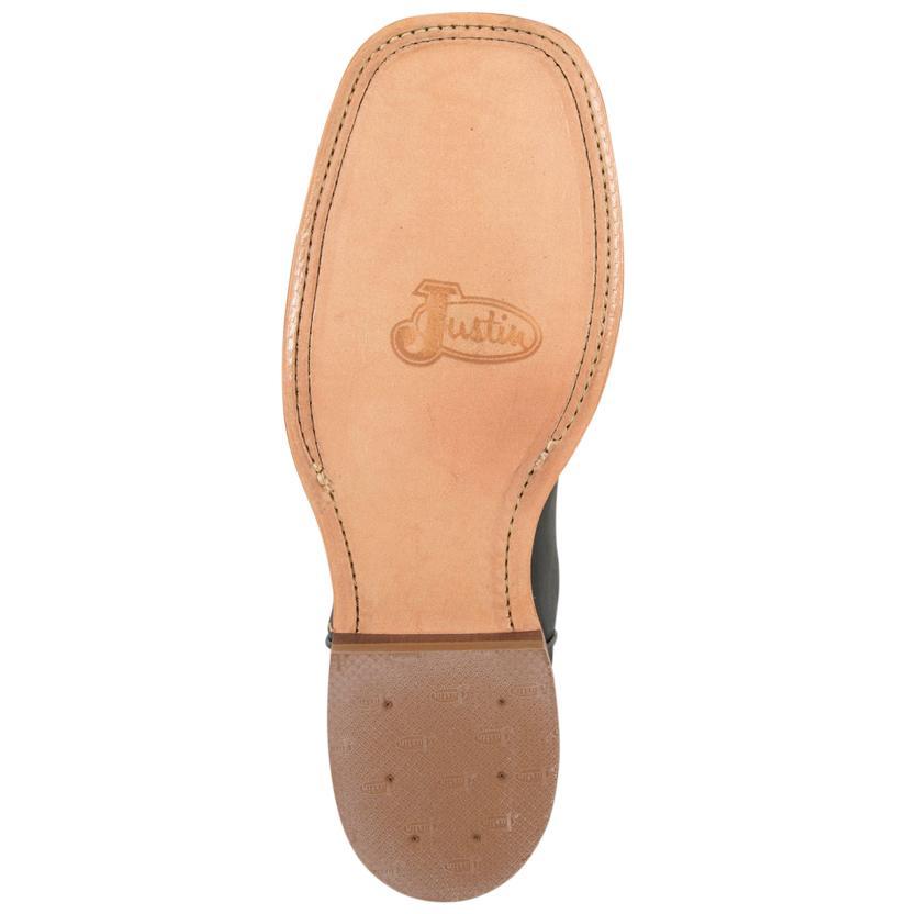beebcd1db34e Justin Women s Bent Rail Black   White Burnished Calf Cowboy Boots