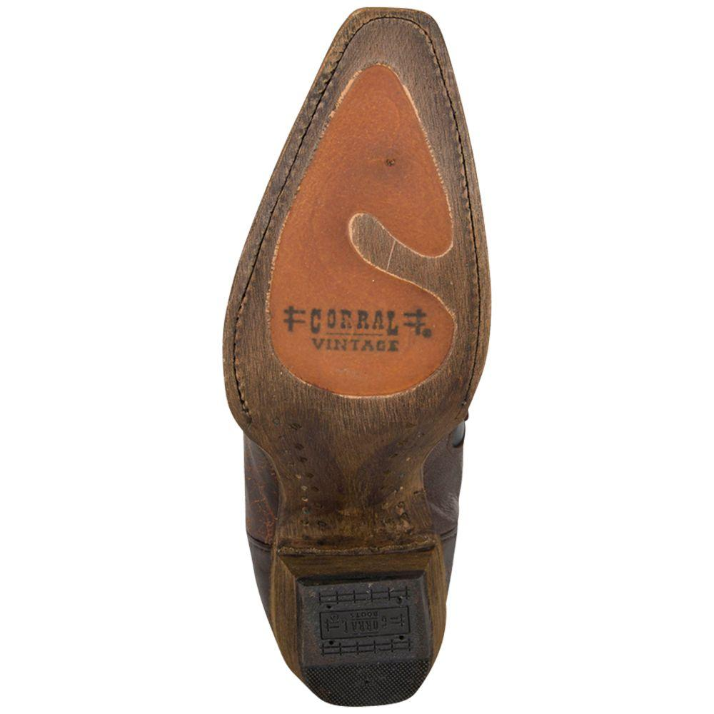 f3283975d02 Corral Womens Vintage Chocolate Brown with Black Inlays Cowgirl Bootsrral  Womens Vintage Chocolate Brown w Black Inlays Cowgirl Boots