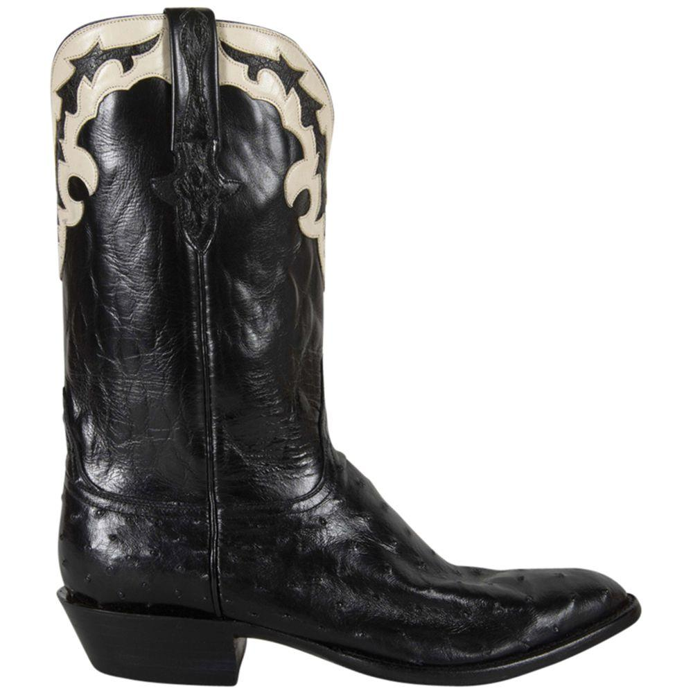 check out cc246 1927a Lucchese Mens Black Pin Buffalo Gold Goat Lining Cowboy Boots