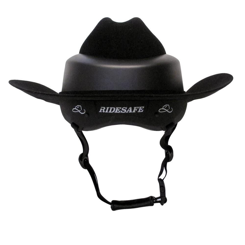 f130938dab3 Ridesafe by Resistrol Black Felt Hat Helmet. RESISTOL HAT