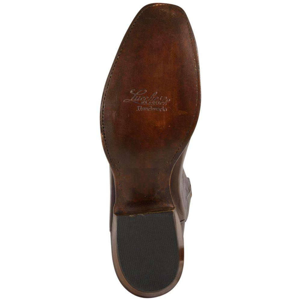 de4a369e468 Lucchese Classic Mens Handcrafted Whiskey Burn Baby Buffalo Roper Boot