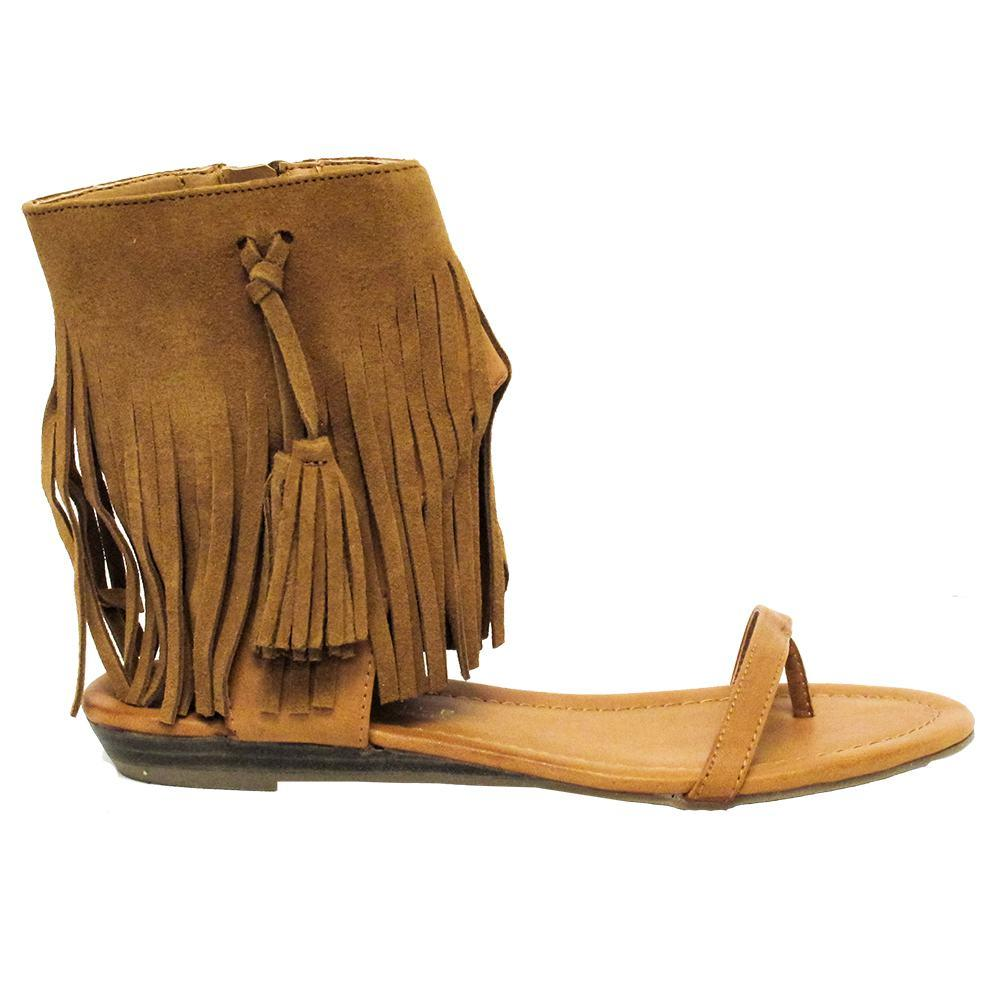 db1ca0b718dded Very Volatile Womens LEX Fringe Ankle Cuff Sandal