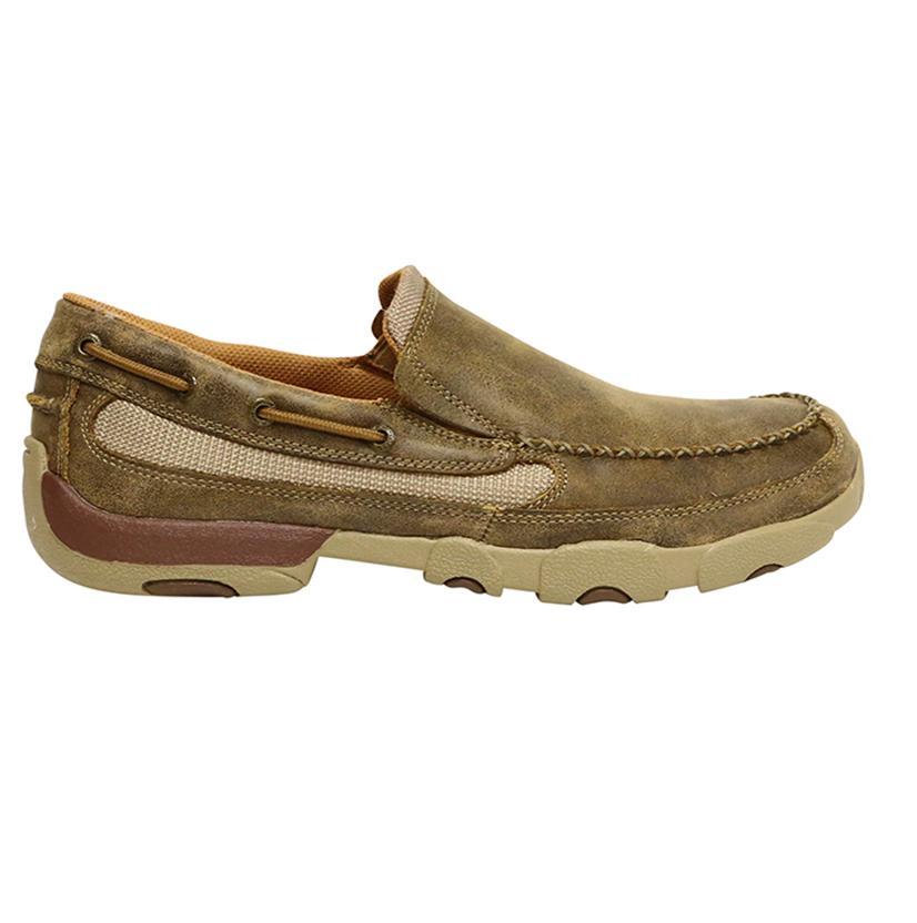 twisted x mens slip on boat shoe