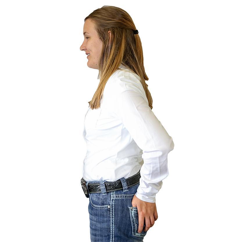 Cinch Long Sleeve Womens Shirt White