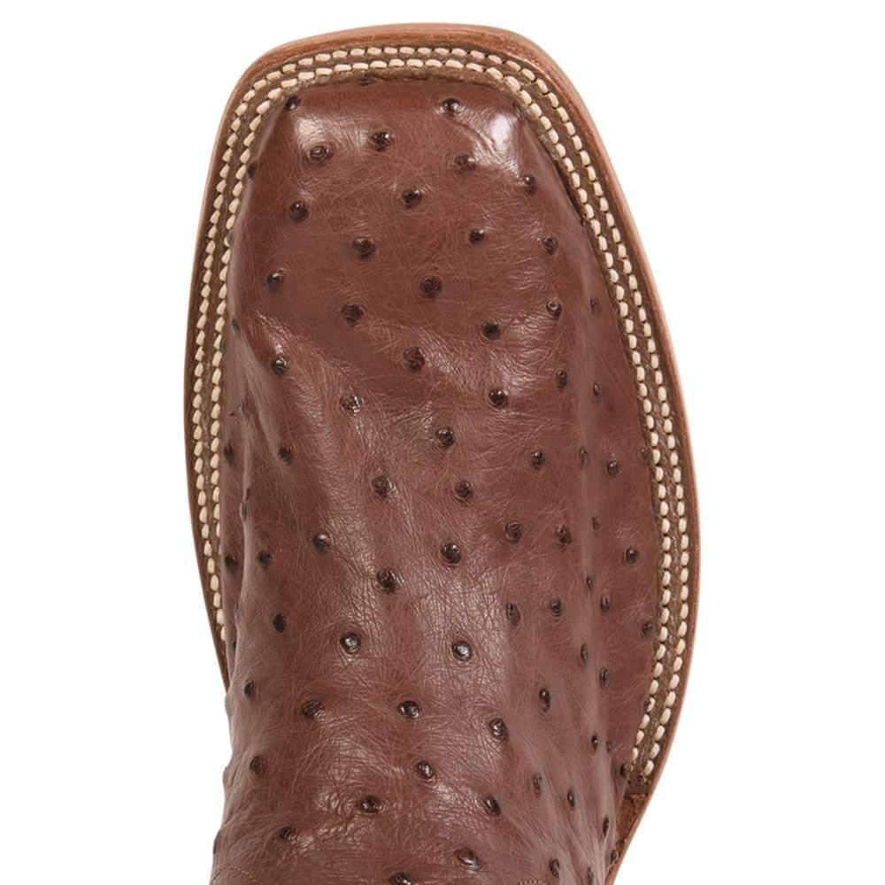 9627606b200 Rios of Mercedes Cigar Full Quill Ostrich Cowboy Boots