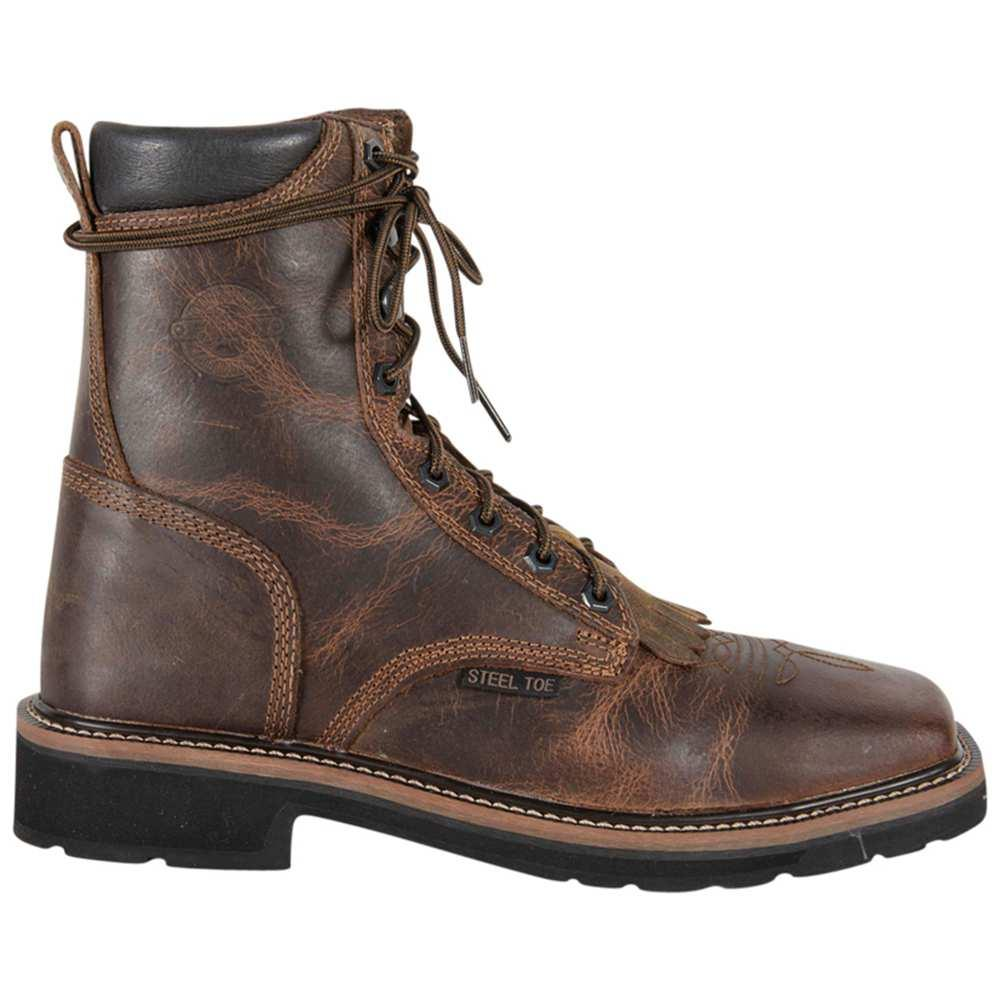 611a6825ba0 Justin Men s Rugged Tan Steel Toe Lace Up Work Boot