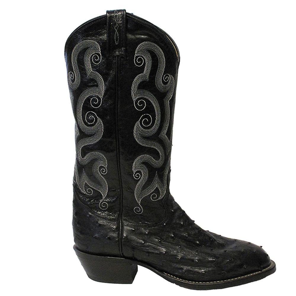 a05b83c3345 Tony Lama Mens Full Quill Ostrich Exotic Western Boots