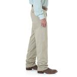 Wrangler Mens Riata Flat Front Relaxed Fit Pants - Khaki (Extended Length)