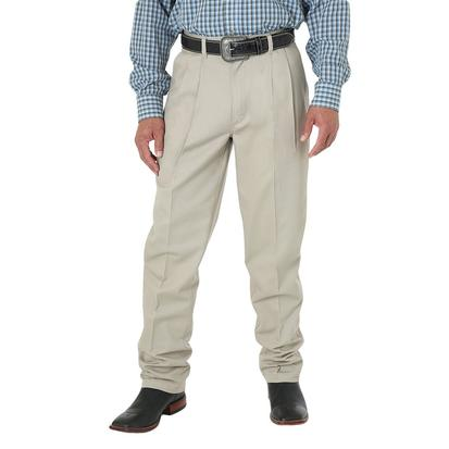 Wrangler Mens Riata Pleated Front Relaxed Fit - Khaki (Extended Length)