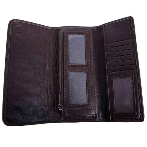 Juan Antonio Brown Tooled Wallet
