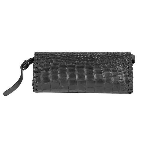 Juan Antonio Horn Back Black Clutch