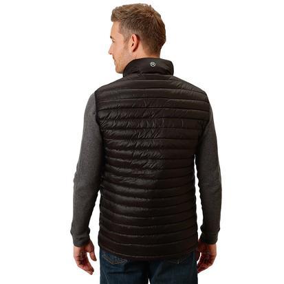 Roper Mens Black Puffy Zip Up Vest