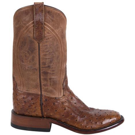 Rios of Mercedes Mens Full Quill Ostrich Cowboy Boots