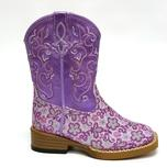 Roper Lavender Floral Glitter Purpler Infant Girls Boots