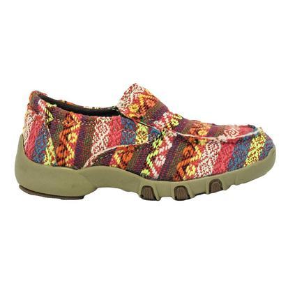 Roper Chase Bright Color Aztec Slipon Girl's Shoe