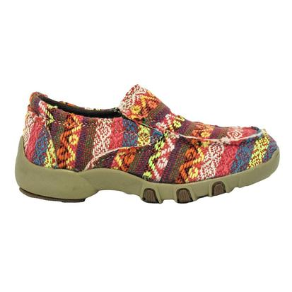 Roper Girls Chase Multi-Colored Fabric Driving Mocs