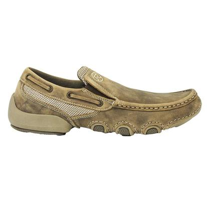 Roper Mens Brown Vintage Slip On Casual