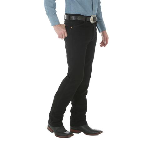 Wrangler Mens 0936WBK Original Cowboy Cut Slim Fit Jean - Shadow Black