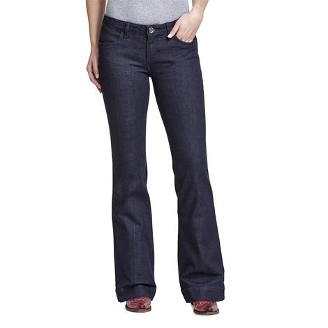 Wrangler Dark Wash Women's Trouser Jeans