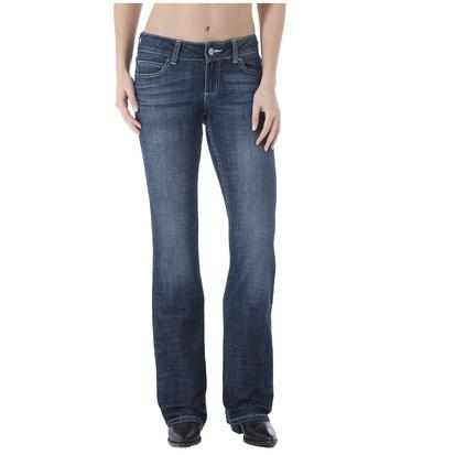 Wrangler Womens Bootcut Midrise Medium Wash Jeans