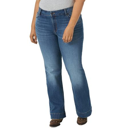 Wrangler Mae Plus Size Embry Wash Women's Trouser Jeans