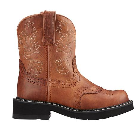 Ariat Womens Fat Baby Saddle Western Boots