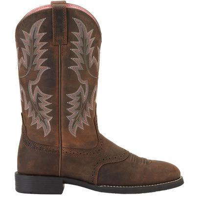 Ariat Women's Heritage Stockman Driftwood Brown Boots