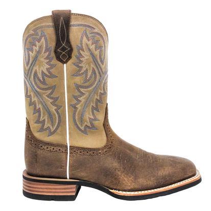 Ariat Mens Quickdraw Western Boots - Bark/Beige