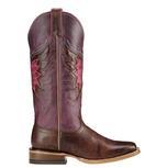 Ariat Womens Mariposa Weathered Buckskin and Sangria Boots