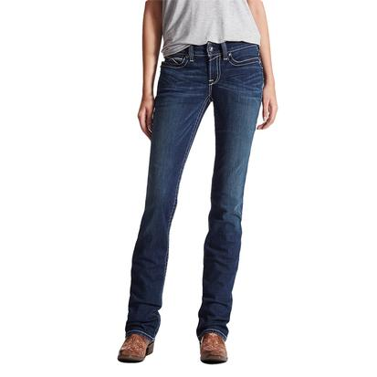 Ariat Womens Western Real Straight Icon Ocean Jeans