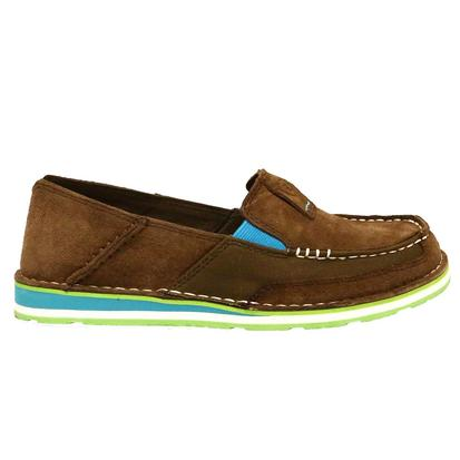 Ariat Women Turquoise and Palm Brown Cruiser Shoe