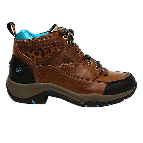 Ariat Womens Cheetah Terrain Lace Up Hiking Boots