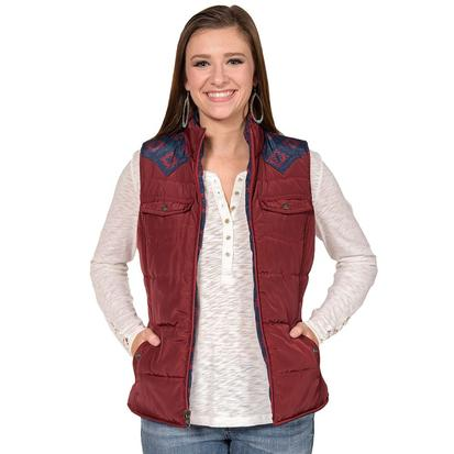 Ariat Womens Country Vest - Burgundy Reversible