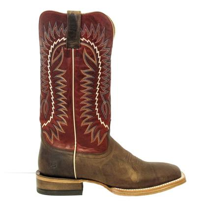 Ariat Mens Relentless Elite Dust Devil Tan True Red Boots