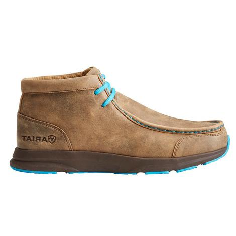 Ariat Mens Spiritfire Brown Bomber and Blue Shoes