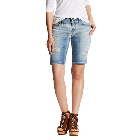 Ariat Bermuda Womens Denim Shorts with Flowers